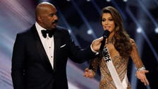 VIDEO: Miss Universe host given glasses before reading out result