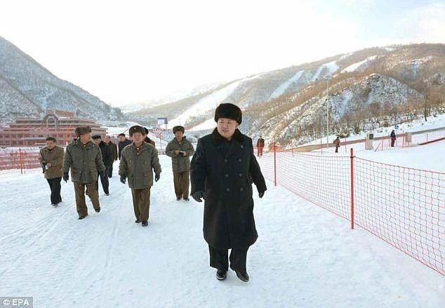 زعيم كوريا الشمالية خلال زيارة المنتجع