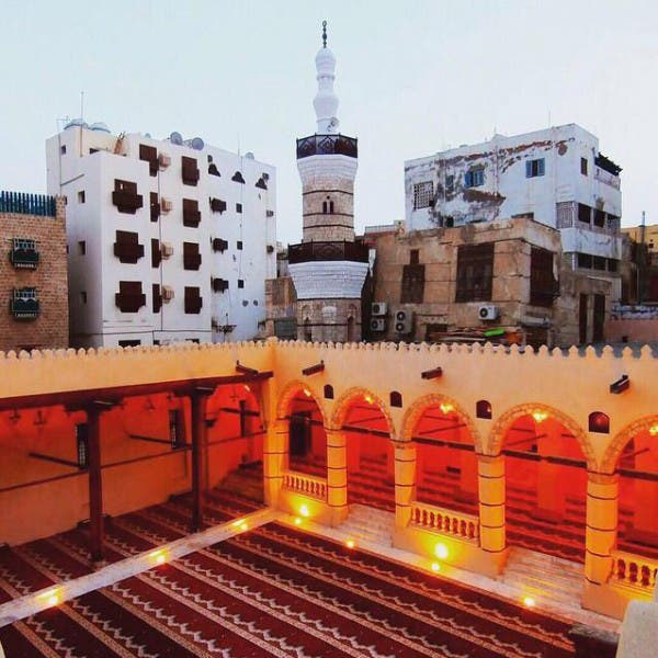 The mosque is located in the heart of old Jeddah