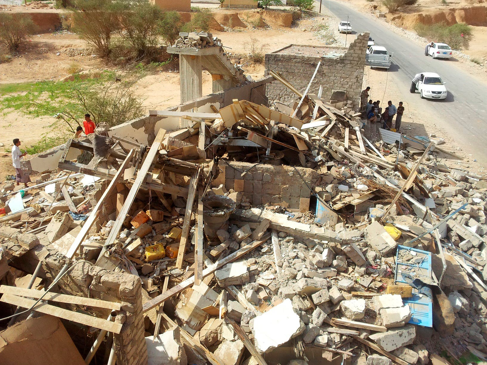 A view of a house in what security official said was destroyed by a U.S. drone in Yemen's eastern province of Hadramout September 4, 2012.  Reuters