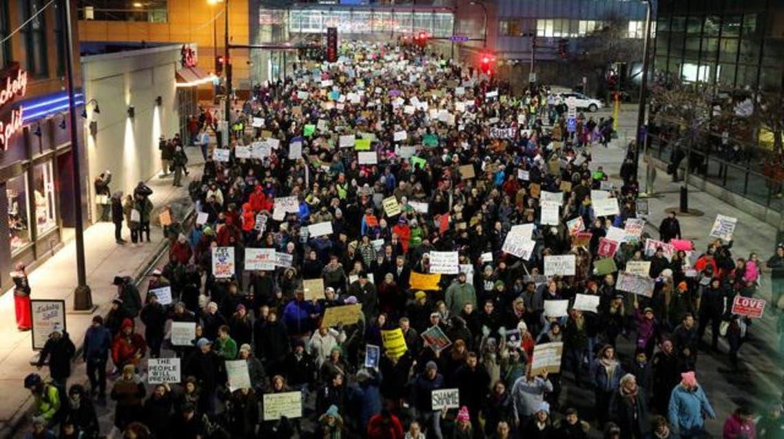 تظاهرات ضد قرار ترمب
