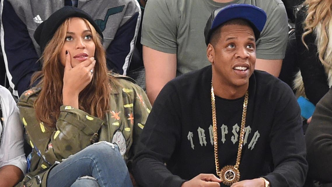 This file photo taken on February 15, 2015 shows  Beyoncé and Jay Z attend the 64th NBA All-Star Game at Madison Square Garden in New York. Pop superstar Beyonce announced February 1, 2017. (AFP)