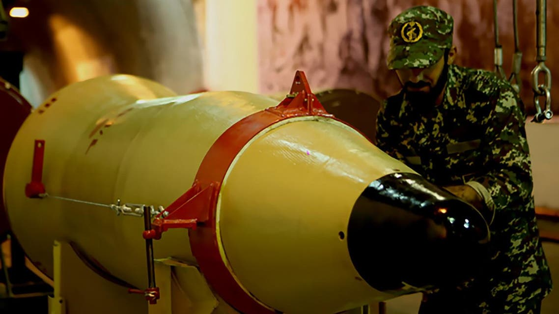 "A handout picture released on March 8, 2016 by Sepah News, the online news site and public relations arm of Iran's Islamic Revolutionary Guard, shows a member of the Revolutionary Guards next to a missile launcher in an underground tunnel at an undisclosed location in Iran. Iran conducted multiple ballistic missile tests on March 8 in what it said was a display of ""deterrent power,"" defying US sanctions imposed earlier this year aimed at disrupting its missile programme. State media announced that short-, medium- and long-range precision guided missiles were fired from several sites to show the country's ""all-out readiness to confront threats"" against its territorial integrity. (AFP)"