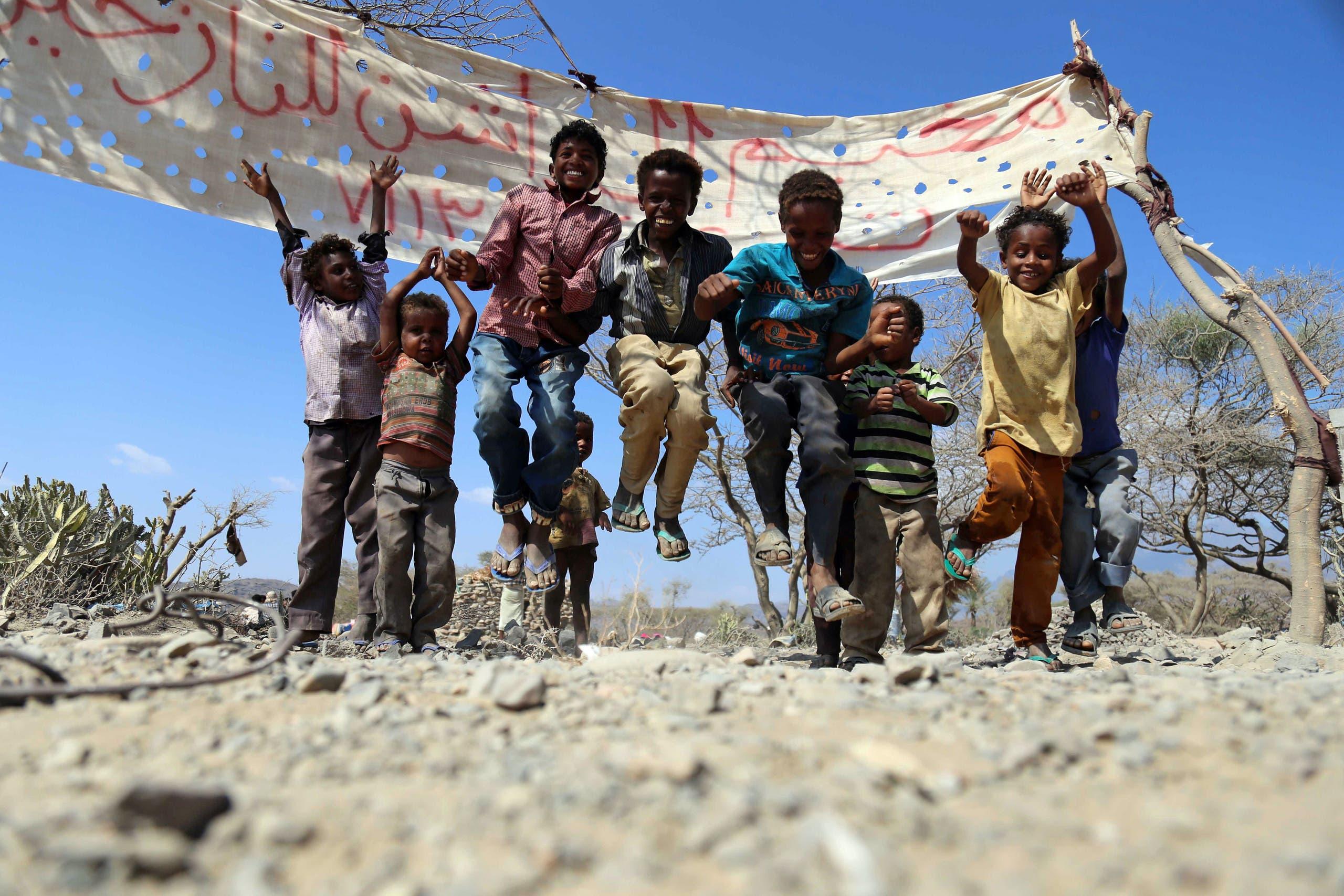 کودکانی از تعز که جنگ آنها را بی خانمان کرد
