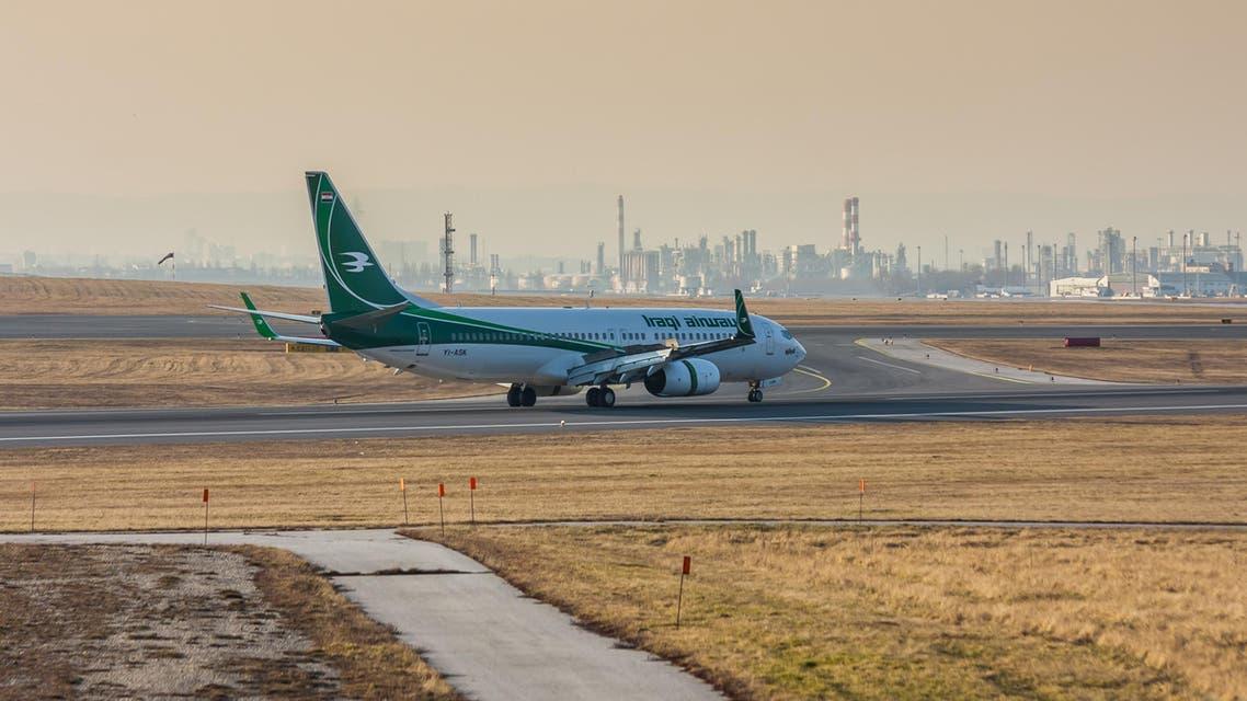 طائرة تابعة لـ الخطوط العراقية في مطار فيينا - آي ستوك