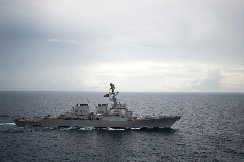 سفينة حربية أميركية في بحر الصين الجنوبي (أرشيفية)