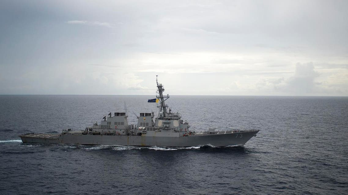 This US Navy photo obtained October 21, 2016 shows the Guided-missile destroyer USS Decatur (DDG 73)as it operates in the South China Sea as part of the Bonhomme Richard Expeditionary Strike Group (ESG)on October 13, 2016. AFP