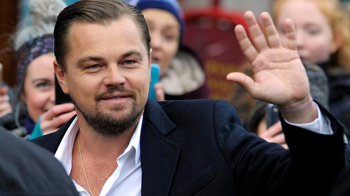 US actor Leonardo Di Caprio arrives at a social restaurant that aims to help the homeless in Edinburgh, Scotland ahead of his appearance this evening at the Scottish Business Awards on November 17, 2016. Andy Buchanan / AFP