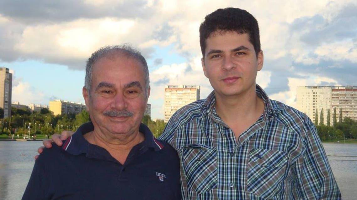 المخرج الراحل محمد كامل القليوبي وابنه رامي
