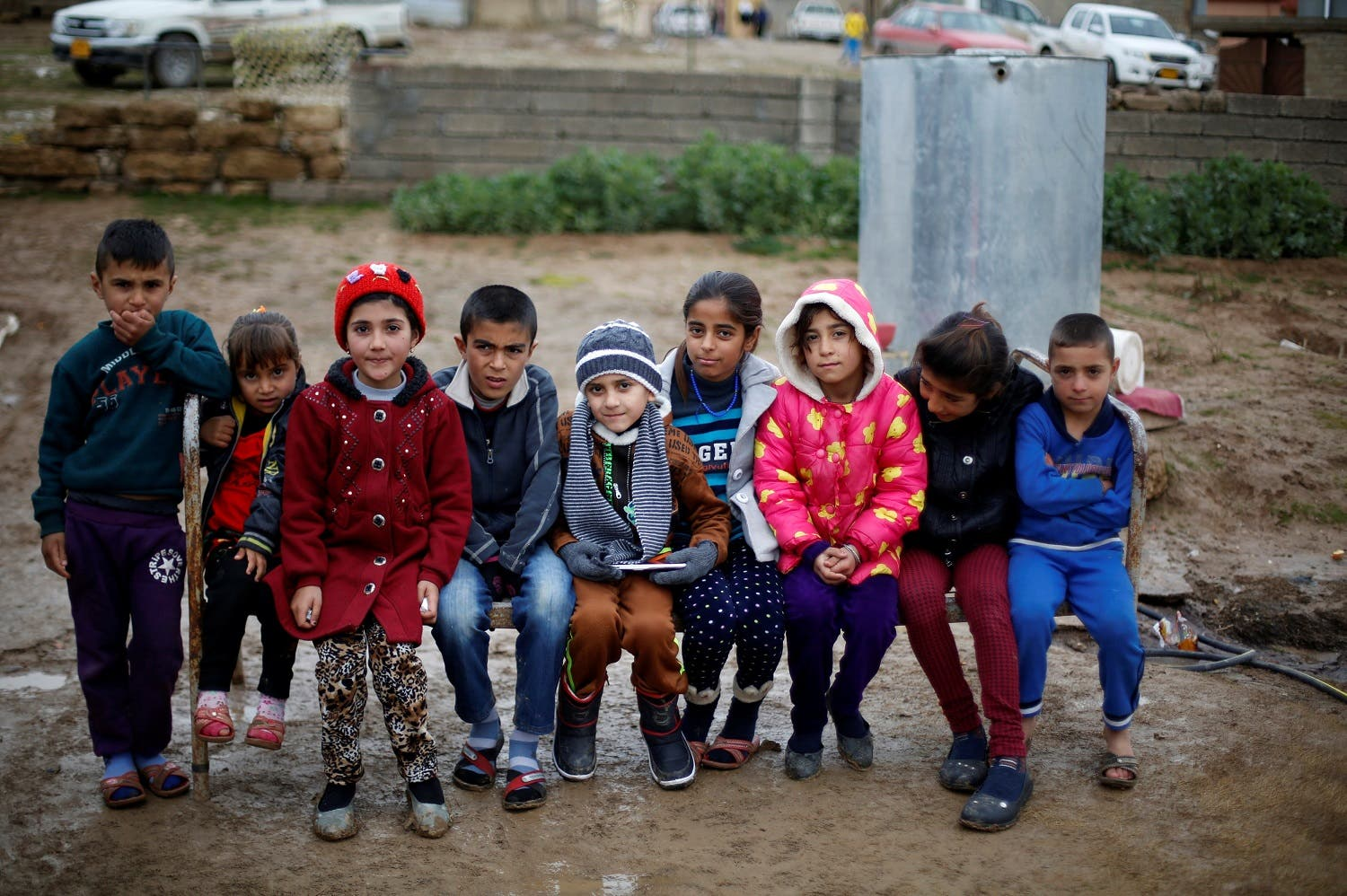 Ayman Poses For A Photograph With Other Children After He Was Returned To  His Yazidi Family In Duhok, Iraq (reuters)
