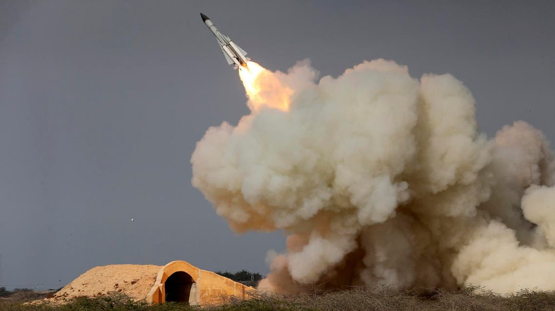 In this Dec. 29, 2016 file photo, released by the semi-official Iranian Students News Agency (ISNA), a long-range S-200 missile is fired in a military drill in the port city of Bushehr,