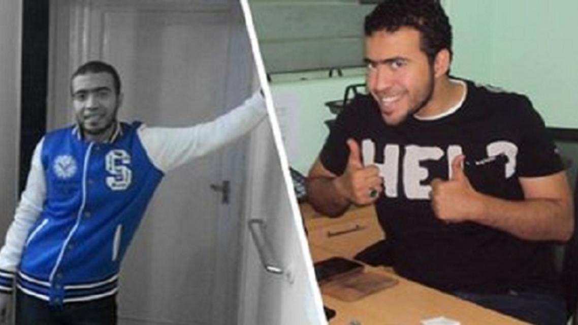 المصري عبد الله الحماحمي في صورتين من حسابه التويتري