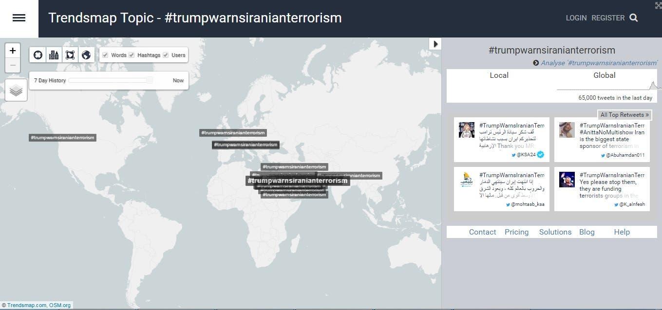 trendsmap saudi #trumpwarnsiranianterrorism