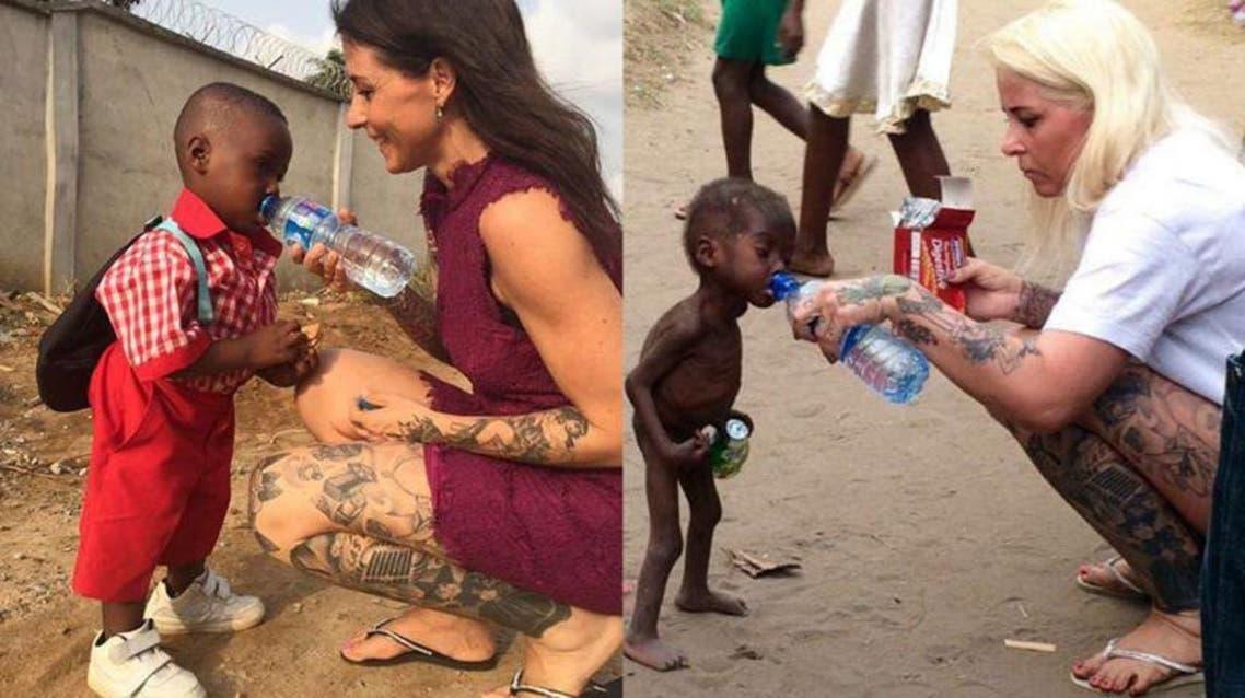 دنماركية أنقذت طفلا أفريقيا مشردا وصنعت له حياة جديدة