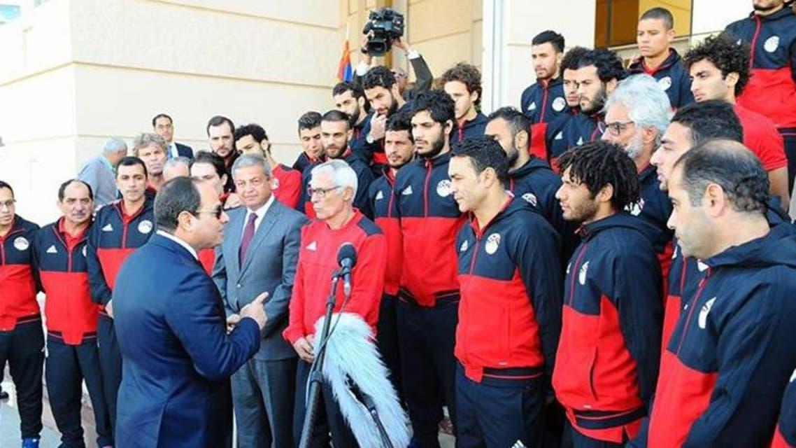 السيسي يستقبل منتخب مصر