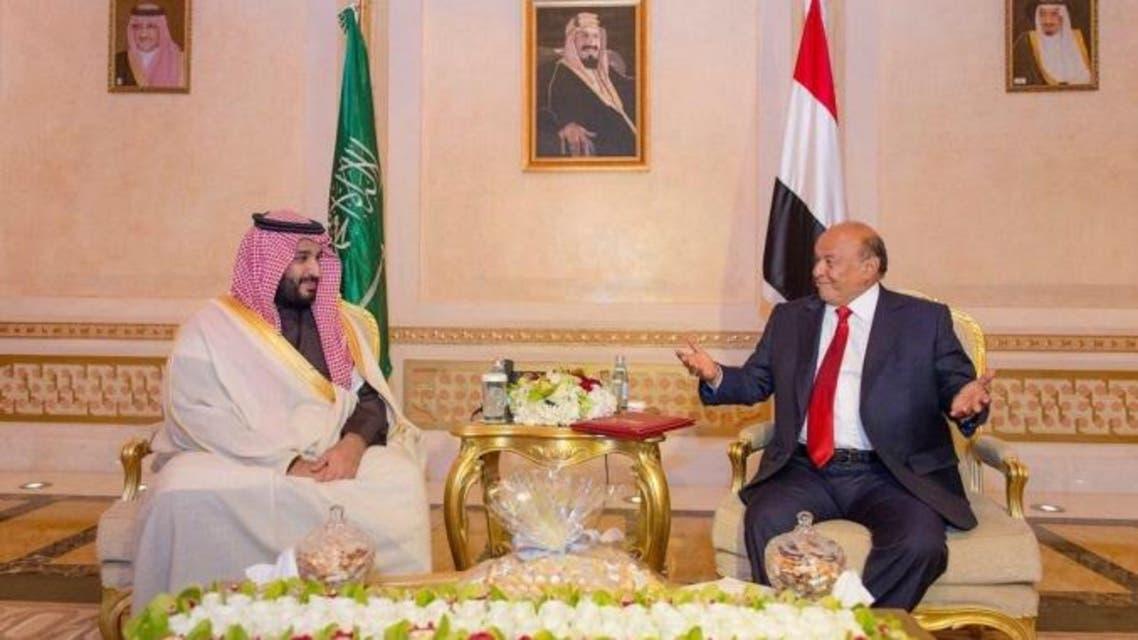 محمد بن سلمان يلتقي هادي في الرياض
