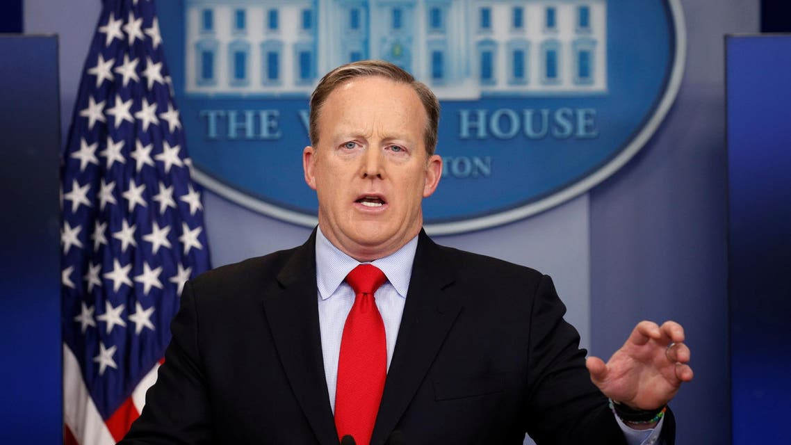 White House spokesman Sean Spicer holds a press briefing at the White House in Washington, US, February 3, 2017. (Reuters)