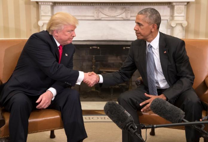 اجتماع أوباما ترمب في البيت الأبيض قبل تنصيب الأخير في 20 يناير