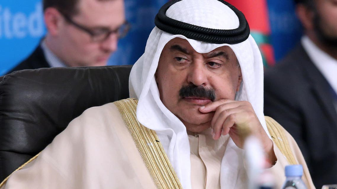 """Kuwait's foreign ministry undersecretary Khaled al-Jarallah, attends the """"Global Coalition Against ISIS, communication working group"""" conference in Kuwait City on April 25, 2016."""