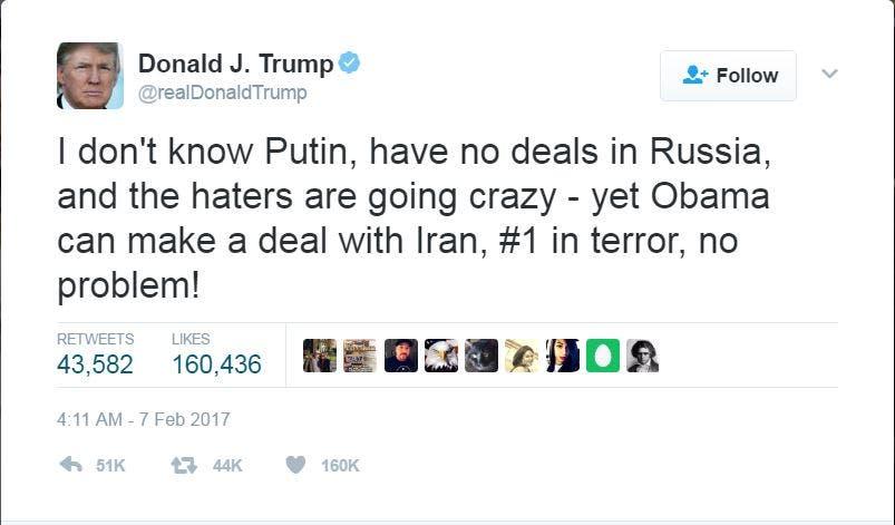 تغريدة الرئيس ترمب