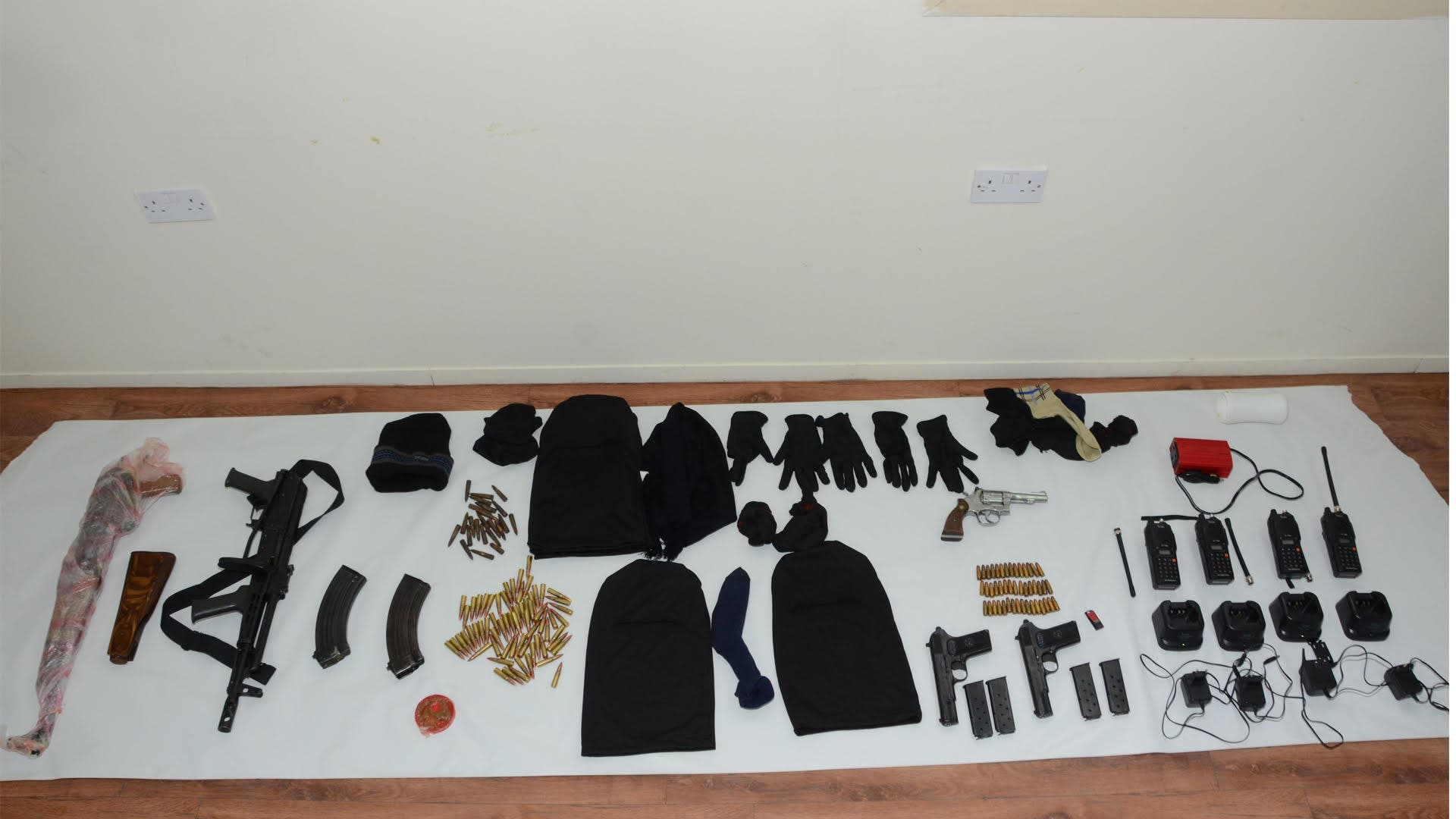 Items found on the vessel included a Kalashnikov assault rifle which was used to attack the coastguard vessels, a GPS system and satellite phone, ID cards, money and personal items.