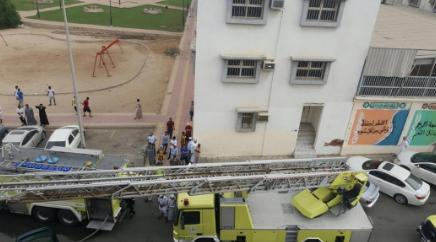 الحي الذي نشب فيه الحريق
