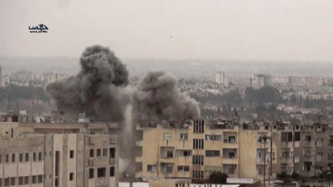 THUMBNAIL_ شاهد مجزرة النظام  بحي الوعر في حمص