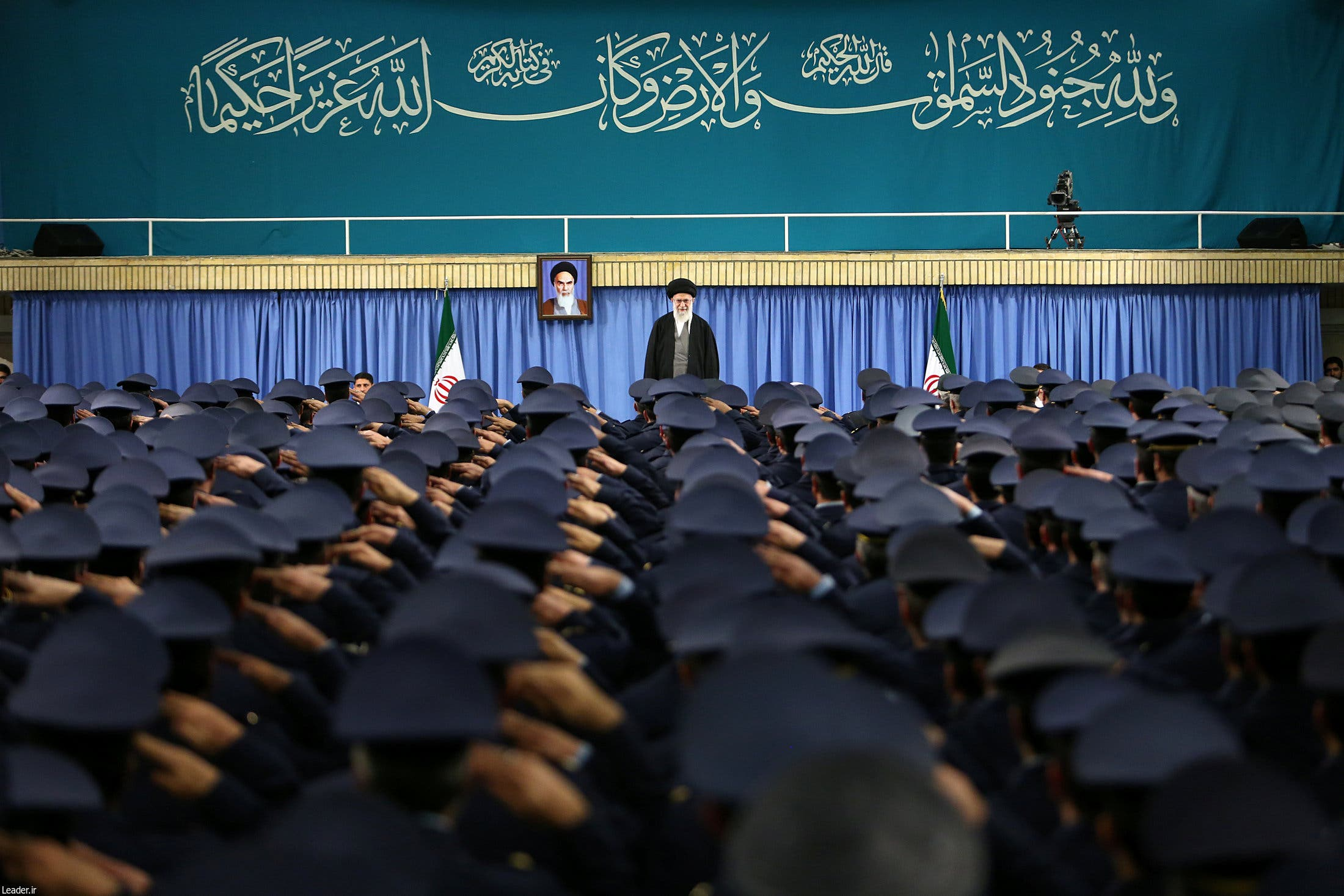 The IRGC is no straightforward military force, its influence stretches into all facets of Iranian society. (AFP)