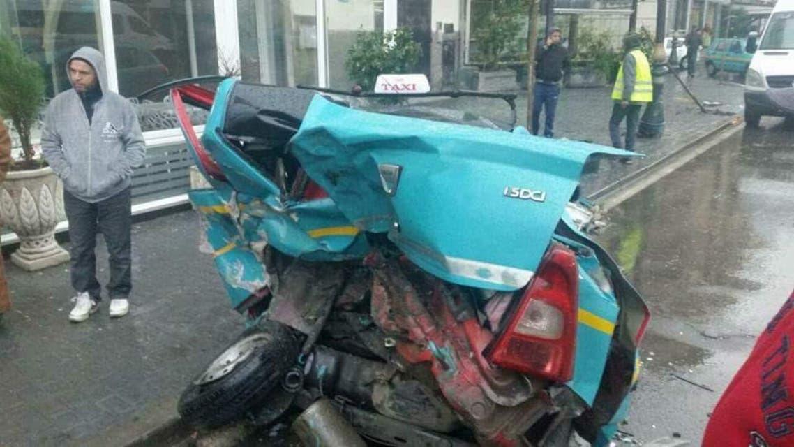 سيارة في المغرب بعد تضررها في حادث مروري 2