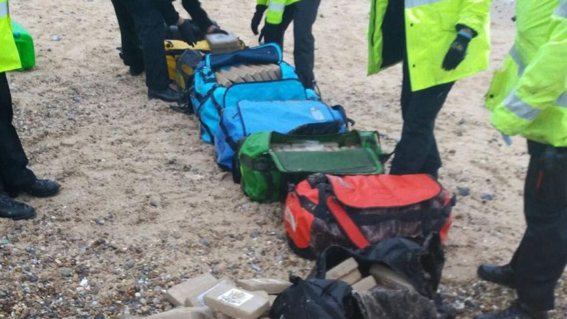 Photo released by Britain's National Crime Agency (NCA) shows bags containing cocaine which were found at Hopton-on-Sea near Great Yarmouth, in Norfolk, southern England on February 9, 2017 (Photo: National Crime Agency/AFP)