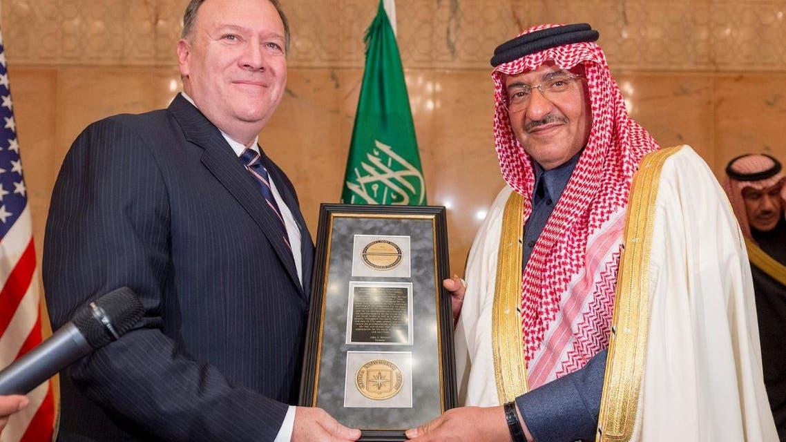 محمد بن نايف ومحمد بن سلمان ورئيس الاستخبارات الأميركية