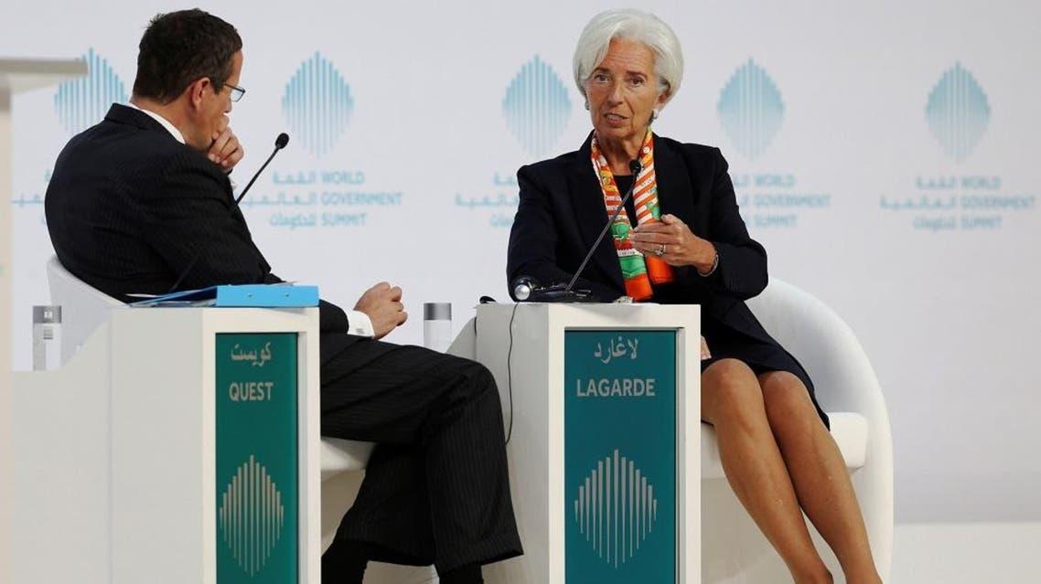 International Monetary Fund  Managing Director Christine Lagarde gestures during the World Government Summit in Dubai, UAE, February 12, 2017. (Reuters)