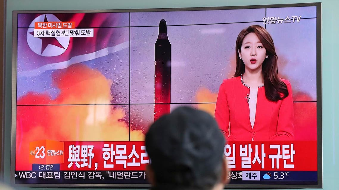 North Korea fired a ballistic missile into the sea off its east coast early on Sunday, the first such test since Trump was elected. (AP)