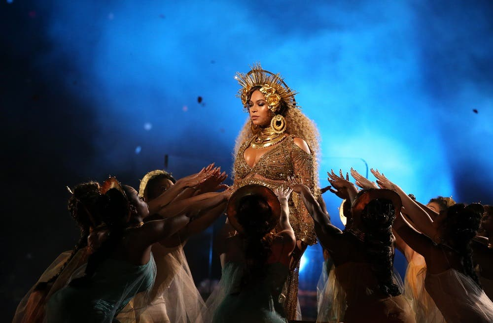 Beyonce chose not to play it safe, instead putting on an extravagant and abstract performance with touches of Indian spirituality and ancient Egypt. (Reuters)
