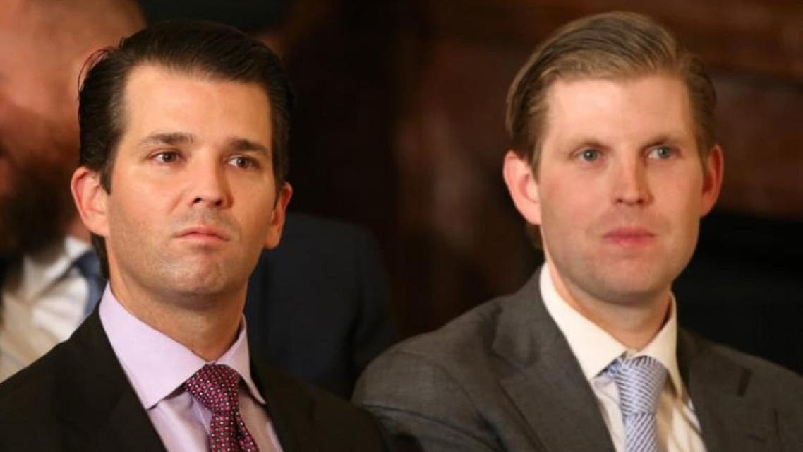 Donald Trump Jr. (L) and Eric Trump (R). (Reuters)