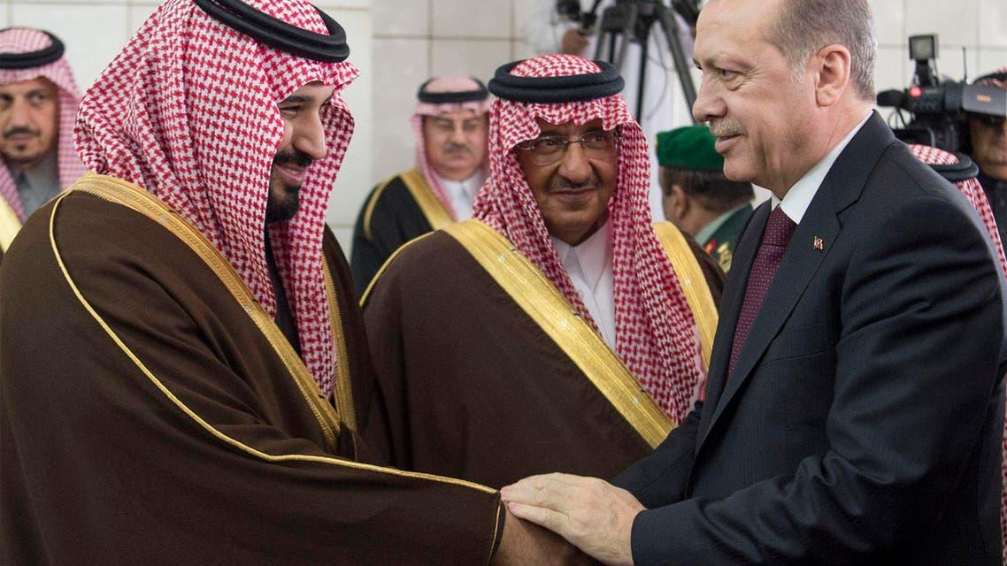 الملك سلمان يبحث مع أردوغان التعاون بين البلدين بالرياض