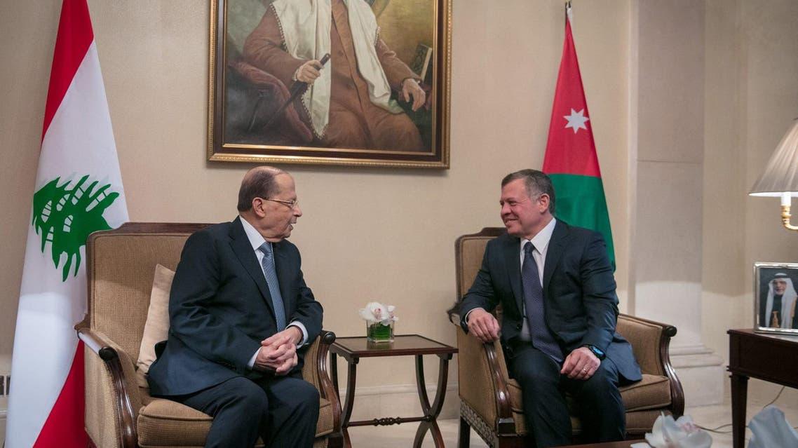 العاهل الأردني والرئيس اللبناني يبحثان الملف السوري والإرهاب