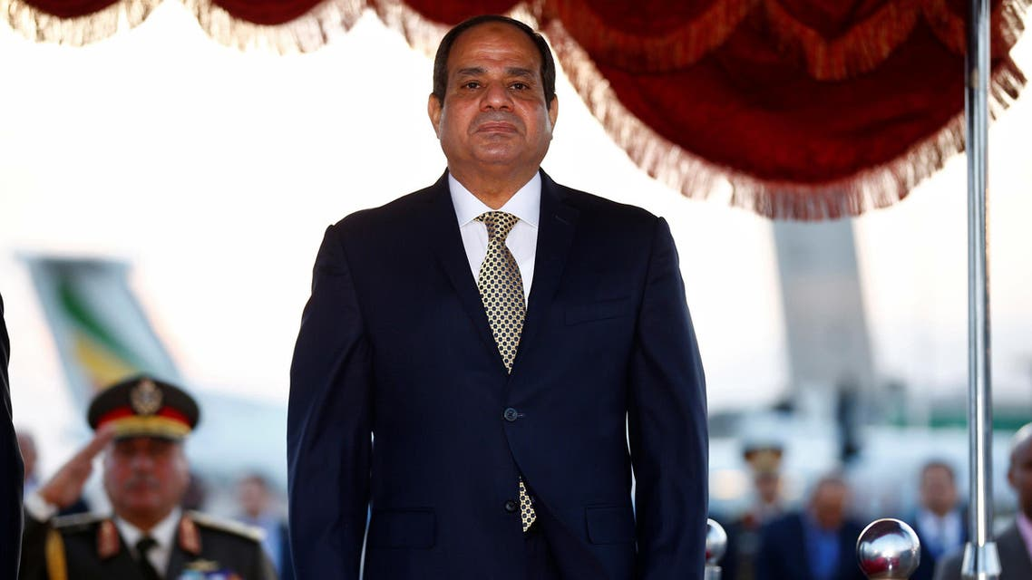 Egypt's President Abdel Fattah al-Sisi is received on his arrival at the Bole International Airport ahead of the 28th Ordinary Session of the Assembly of the Heads of State and the Government of the African Union in Ethiopia's capital Addis Ababa, January 29, 2017. REUTERS/Tiksa Negeri