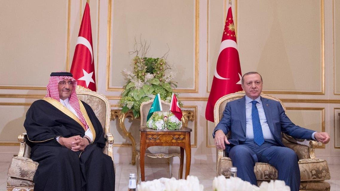 ولي العهد السعودي والرئيس التركي في الرياض