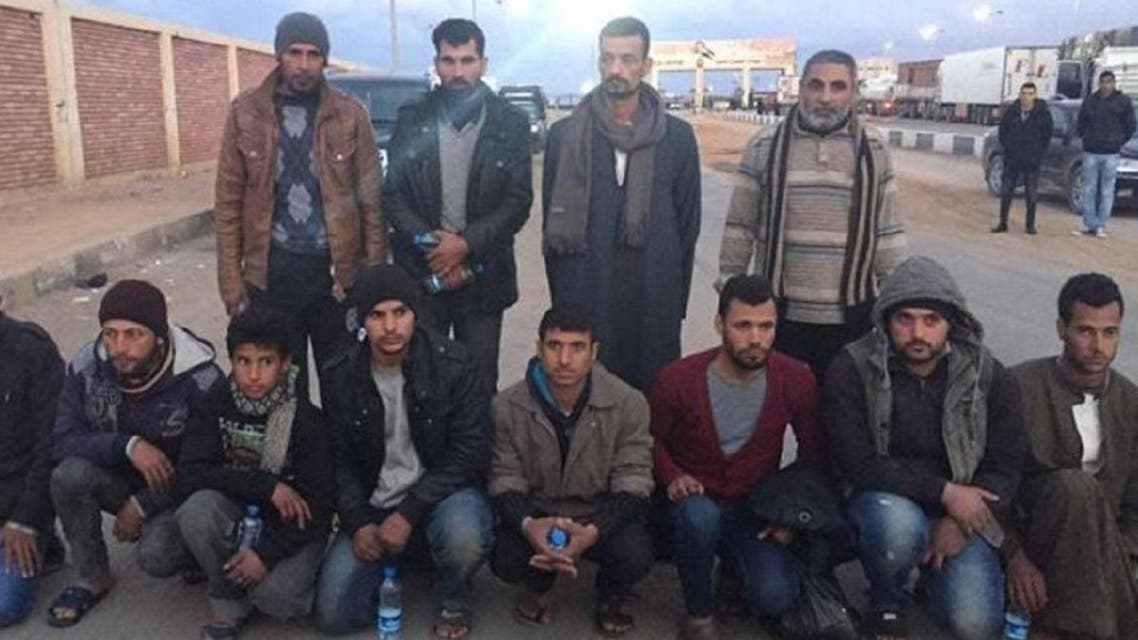 Egyptian hostages freed in Libya. (Supplied)