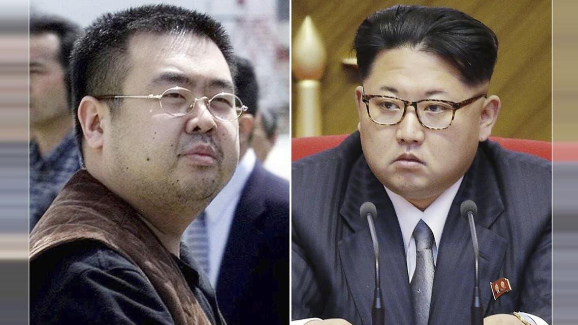 This combination of file photos shows Kim Jong Nam, left, exiled half-brother of North Korea's leader Kim Jong Un. (AP)