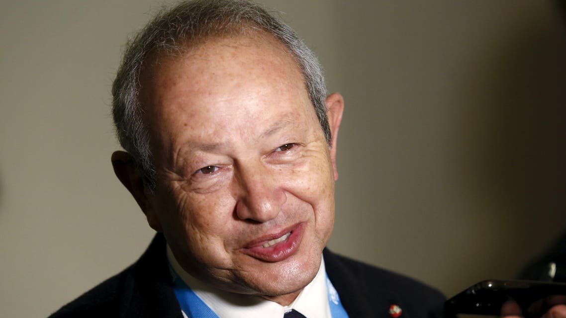 """Egyptian billionaire Naguib Sawiris answers journalists' questions during the """"Rome 2015 MED, Mediterranean dialogues"""" forum in Rome, Italy, December 10, 2015. REUTERS/Remo Casilli"""