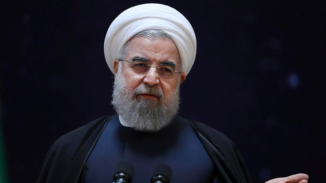 In this photo released by official website of the office of the Iranian Presidency, President Hassan Rouhani, speaks during a ceremony marking National Space Technology Day in Tehran, Iran, Wednesday, Feb. 1, 2017. AP
