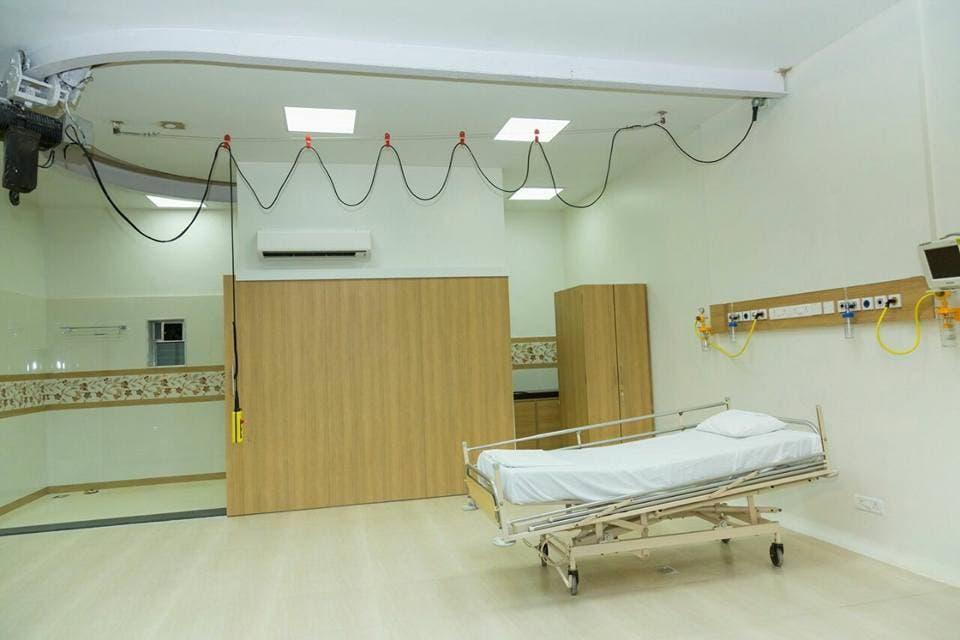 الغرفة حيث تعالج إيمان في الهند