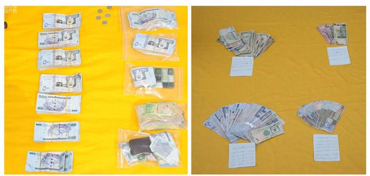 الأموال التي تم ضبطها مع الخلية التي تم تفكيكها الخميس بالسعودية