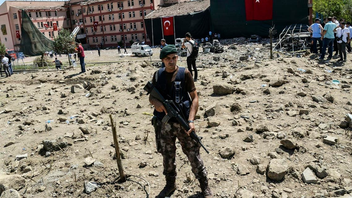 The Turkish army have since December been engaged in fierce fighting to oust the militants from the town. (AFP)