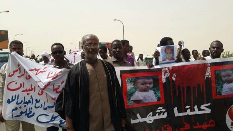 Sudanese protest child rape. (Supplied)