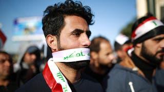 آلاف العراقيين يشاركون في احتجاج صامت في بغداد