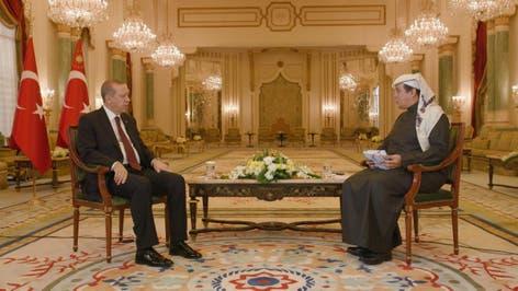 لقاء الرئيس التركي مع تركي الدخيل