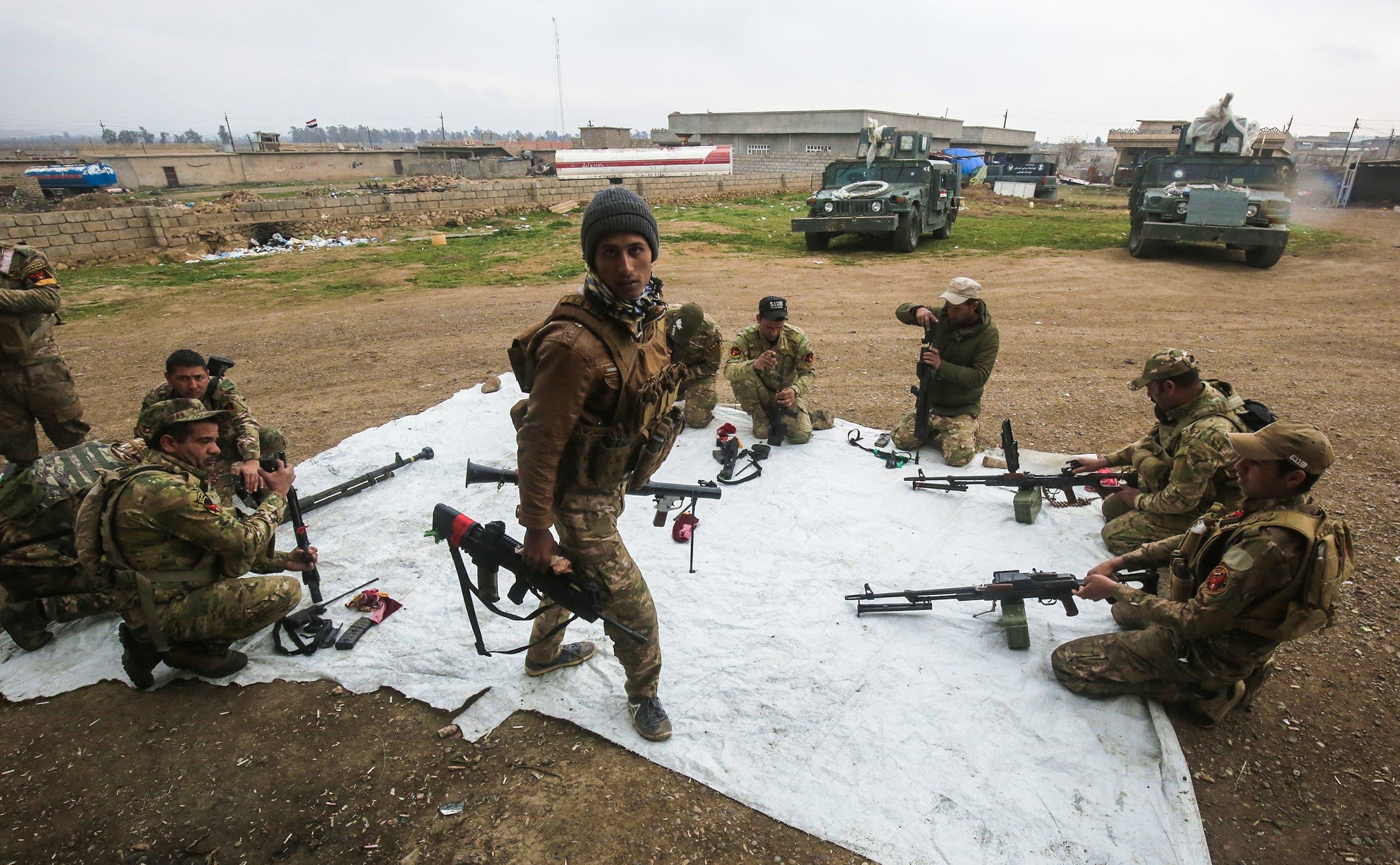 قوات عراقية تتحضر لقتال داعش في الموصل